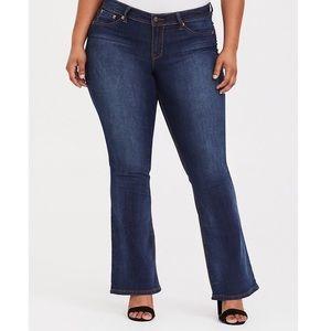Torrid Dark Wash Flare Jeans